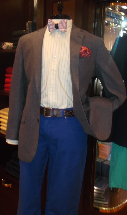 I defy any mannequin to be more Nick Carraway